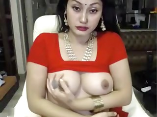 indian hustler masturbates about saree ohmibod lovense