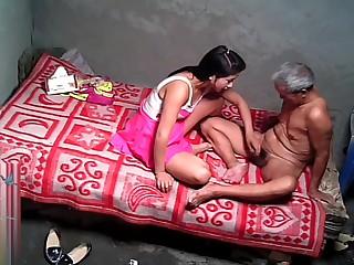 Asian Grandpa With XXX Prostitute